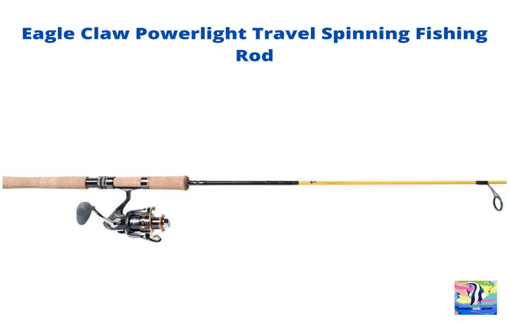 Eagle Claw Powerlight Travel Spinning Fishing Rod